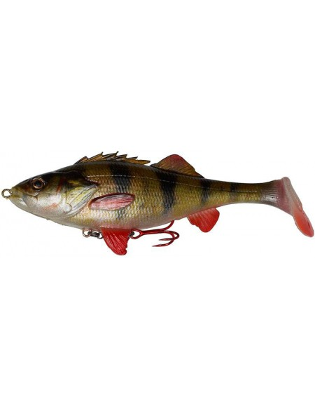 Leurre souple armé Savage Gear 4D PERCH SHAD 17.5 cm