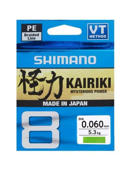 Tresse Shimano KAIRIKI Sx8 Verte