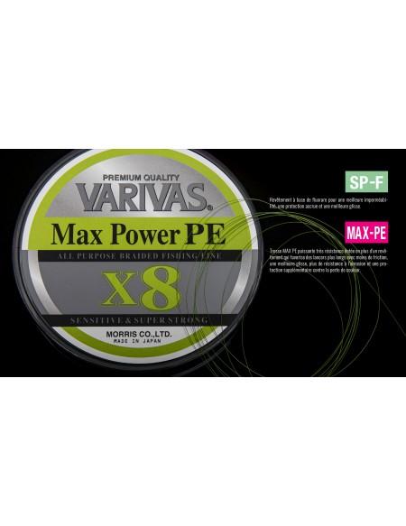TRESSE VARIVAS MAX POWER X8 150M GREEN